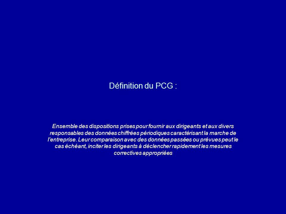 Définition du PCG :