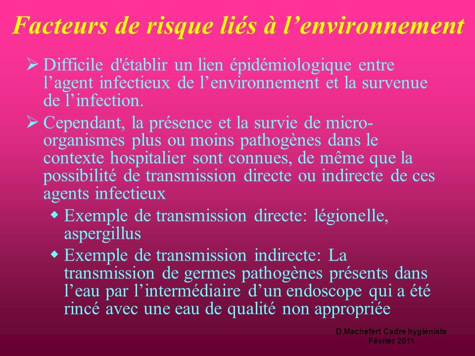 Facteurs de risque liés à l'environnement