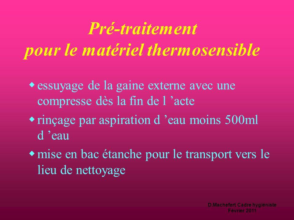 Pré-traitement pour le matériel thermosensible