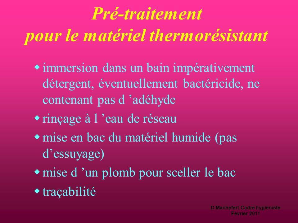 Pré-traitement pour le matériel thermorésistant