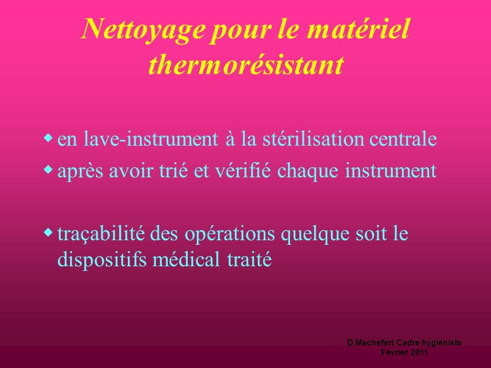 Nettoyage pour le matériel thermorésistant
