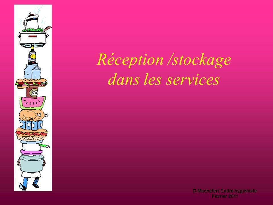 Réception /stockage dans les services
