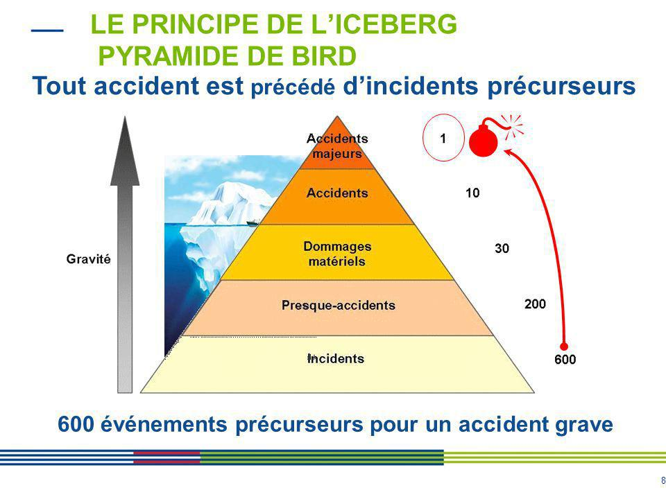 Le principe de l'iceberg Pyramide de Bird