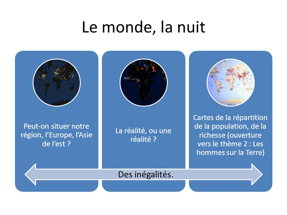 Le monde, la nuit Des inégalités.