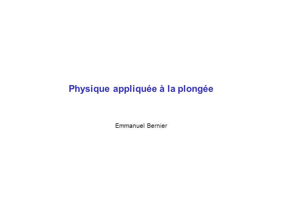 Physique appliquée à la plongée