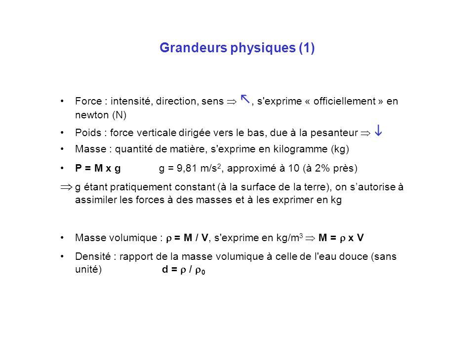 Grandeurs physiques (1)