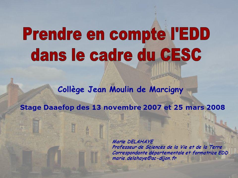 Prendre en compte l EDD dans le cadre du CESC