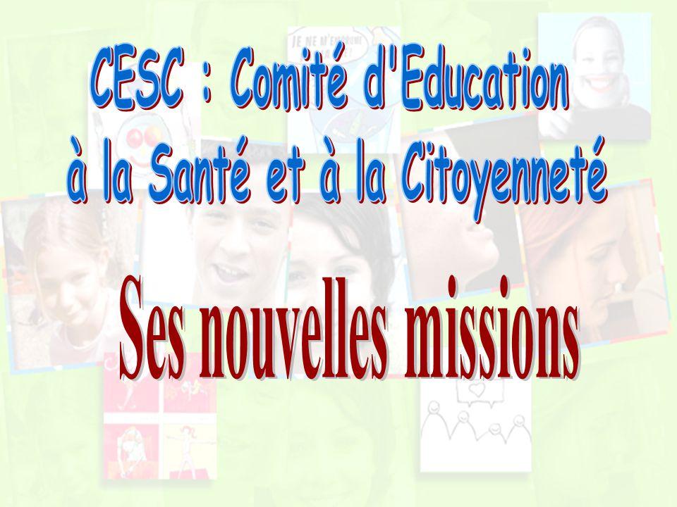 CESC : Comité d Education à la Santé et à la Citoyenneté