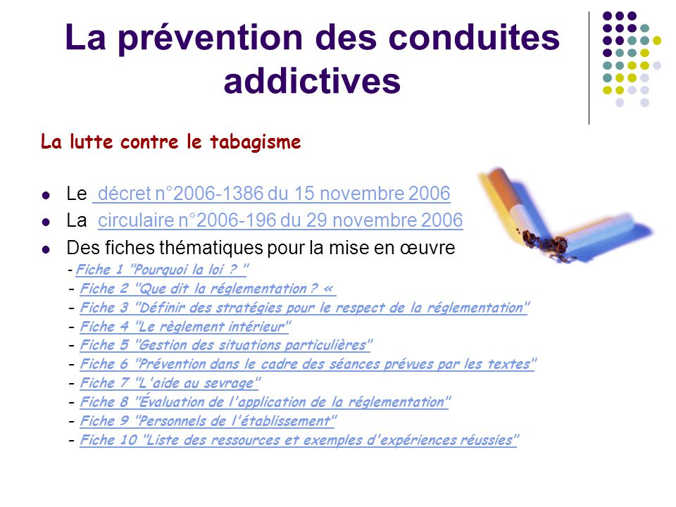 La prévention des conduites addictives