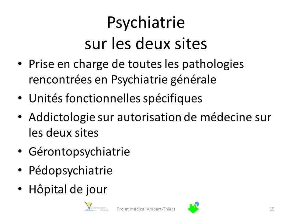 Psychiatrie sur les deux sites