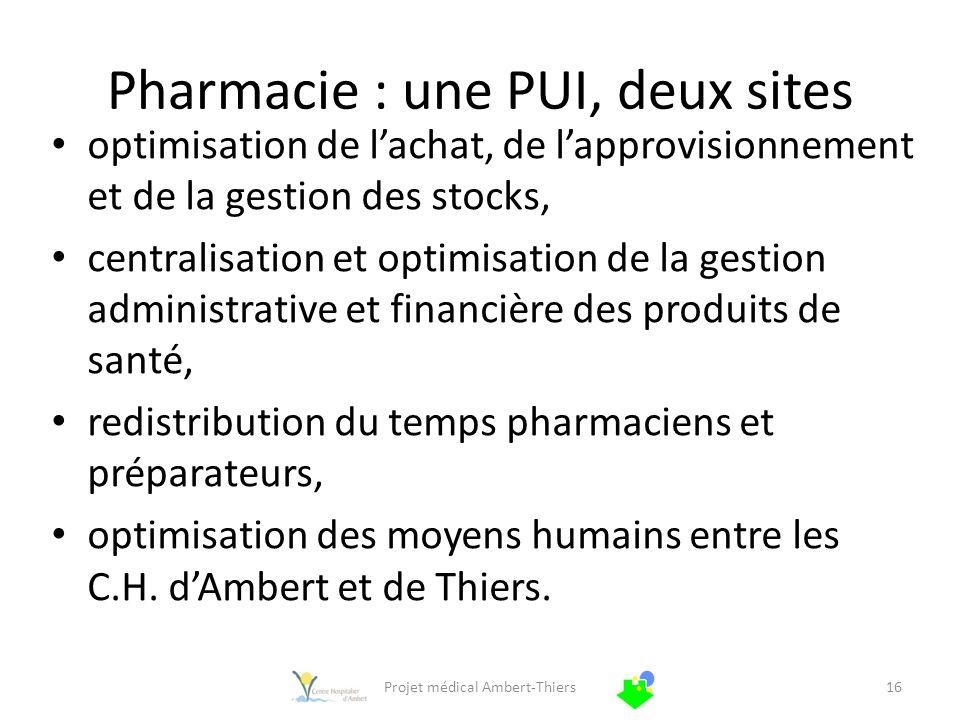 Pharmacie : une PUI, deux sites