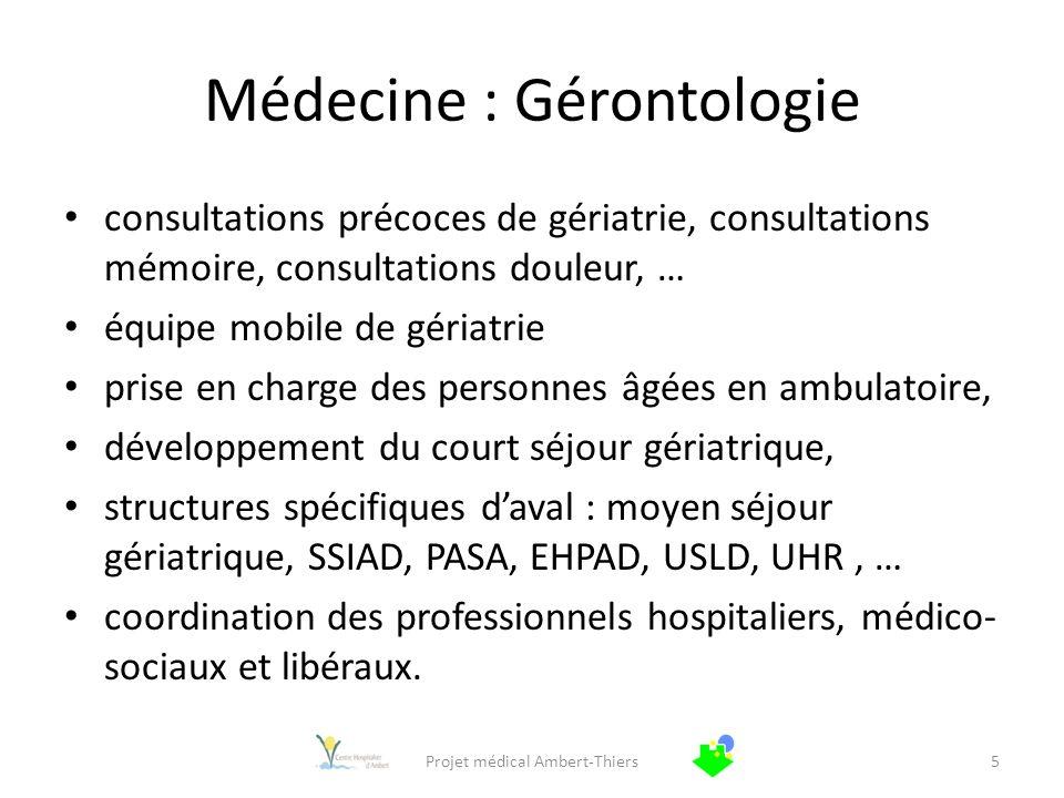 Médecine : Gérontologie