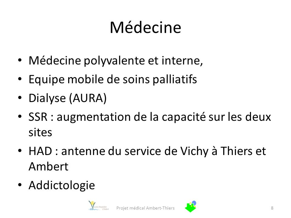 Projet médical Ambert-Thiers