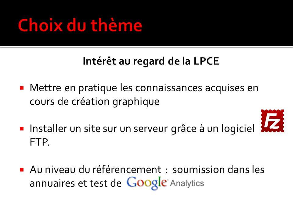 Intérêt au regard de la LPCE