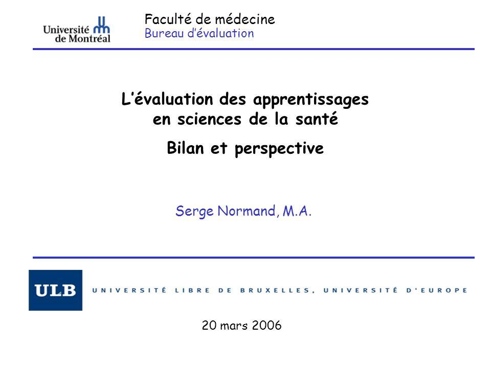 L'évaluation des apprentissages en sciences de la santé