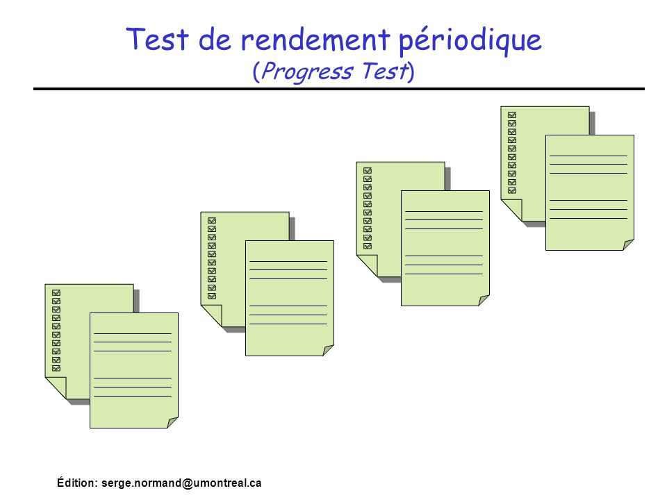 Test de rendement périodique (Progress Test)