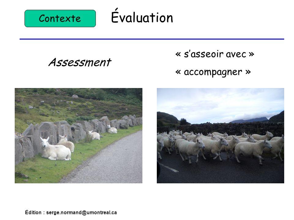 Évaluation Assessment Contexte « s'asseoir avec » « accompagner »