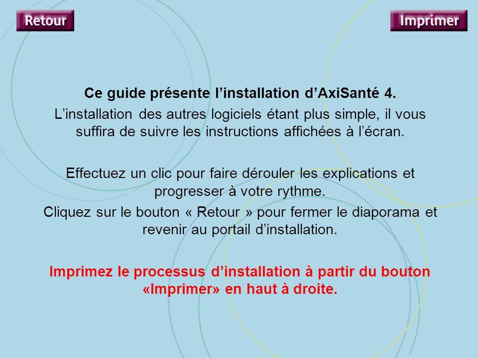 Ce guide présente l'installation d'AxiSanté 4.