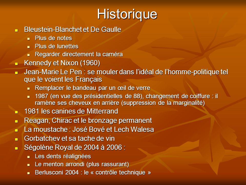 Historique Bleustein-Blanchet et De Gaulle Kennedy et Nixon (1960)