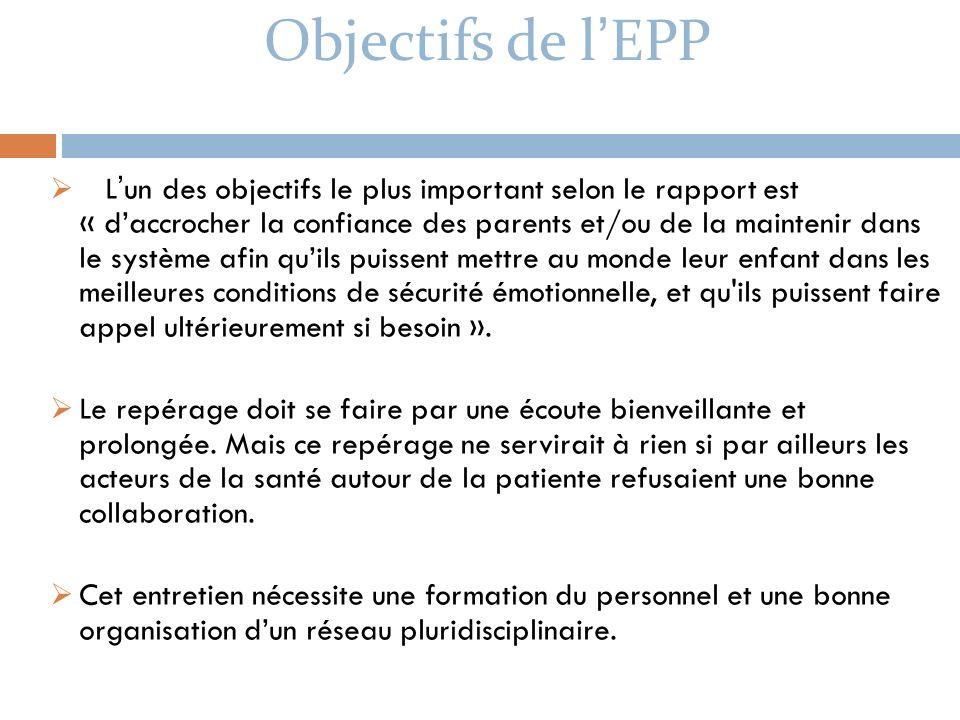 Objectifs de l'EPP