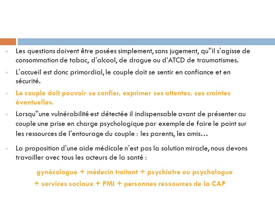 + services sociaux + PMI + personnes ressources de la CAF