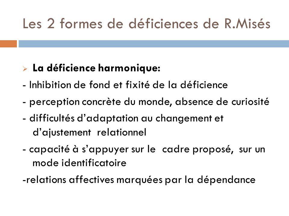 Les 2 formes de déficiences de R.Misés