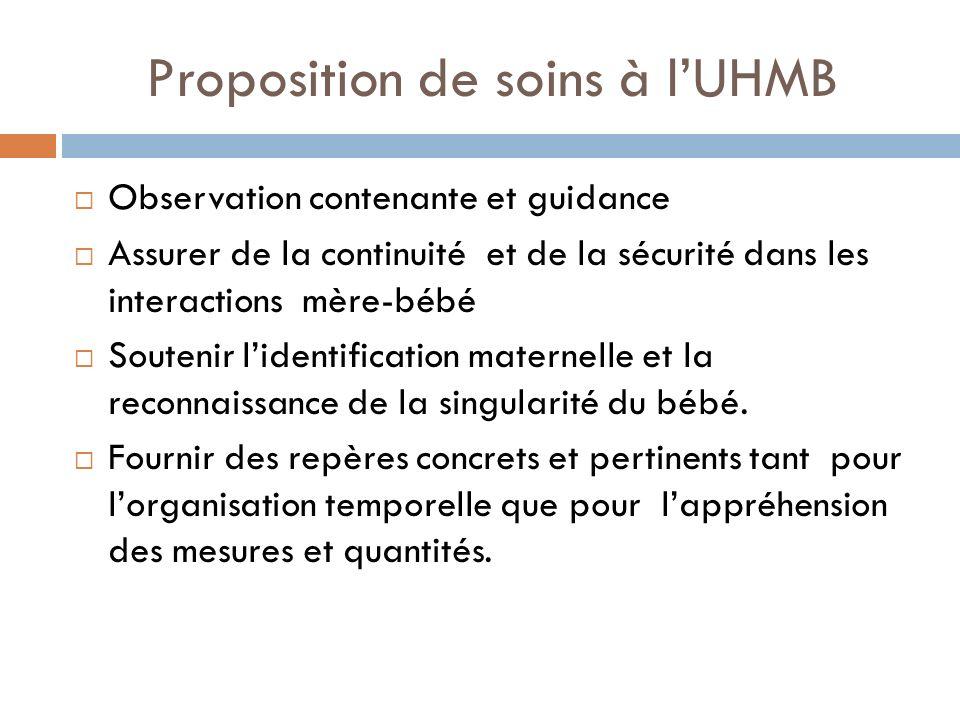 Proposition de soins à l'UHMB