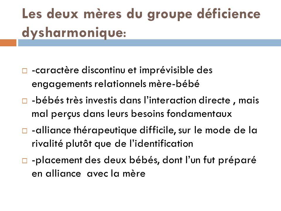 Les deux mères du groupe déficience dysharmonique: