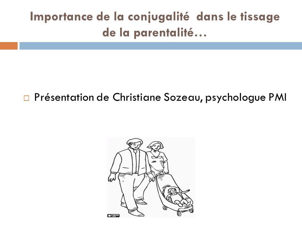 Importance de la conjugalité dans le tissage de la parentalité…