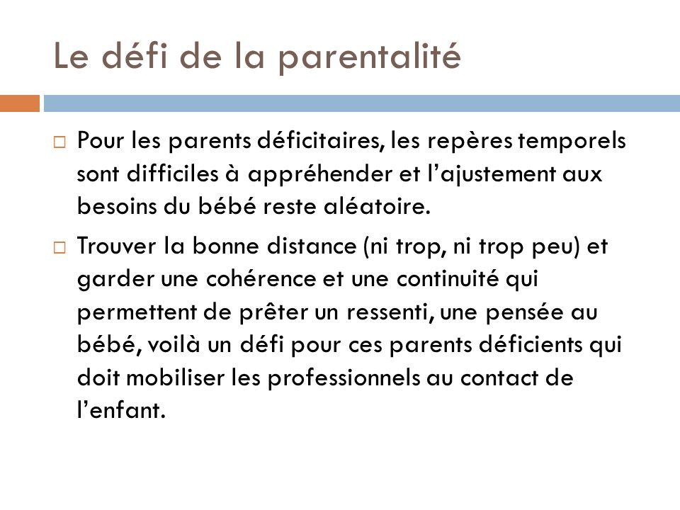 Le défi de la parentalité