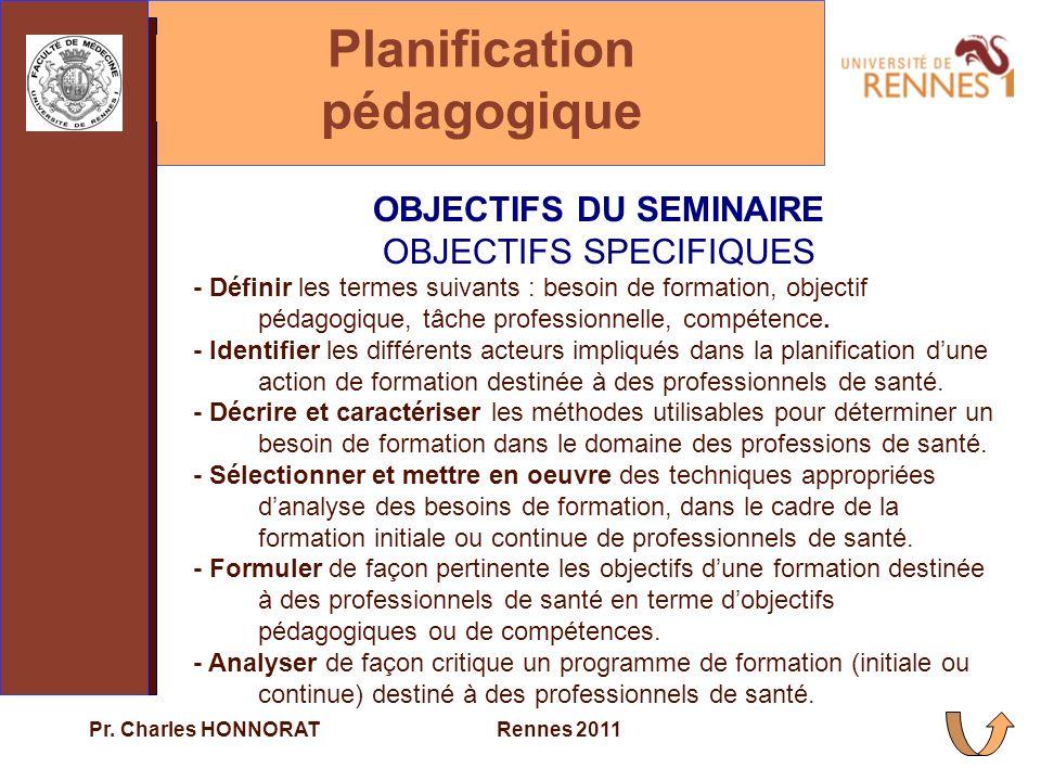 Planification pédagogique