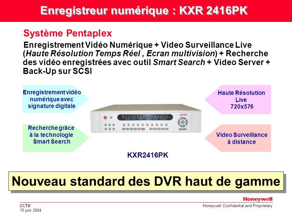 Nouveau standard des DVR haut de gamme