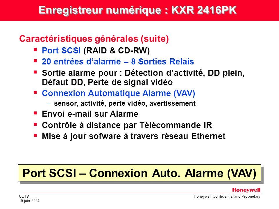 Port SCSI – Connexion Auto. Alarme (VAV)