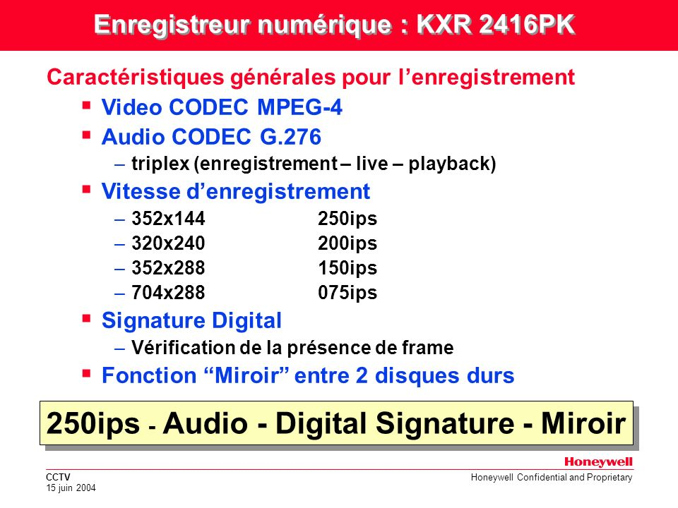 250ips - Audio - Digital Signature - Miroir