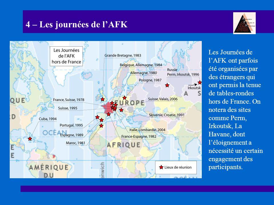 4 – Les journées de l'AFK