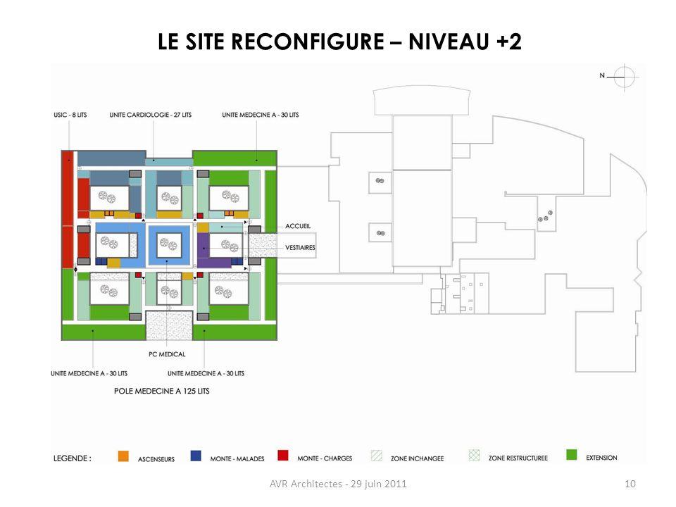 LE SITE RECONFIGURE – NIVEAU +2
