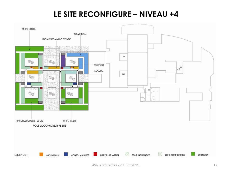 LE SITE RECONFIGURE – NIVEAU +4