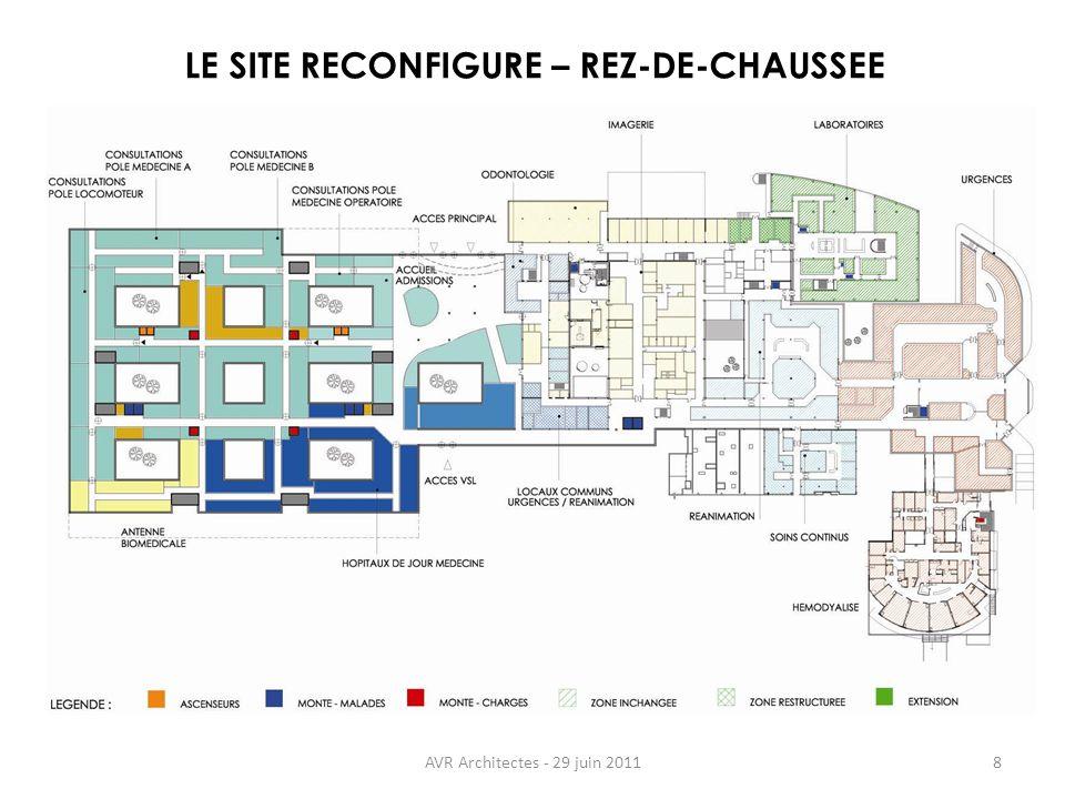 LE SITE RECONFIGURE – REZ-DE-CHAUSSEE