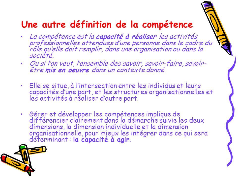 Une autre définition de la compétence