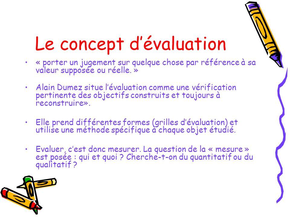 Le concept d'évaluation