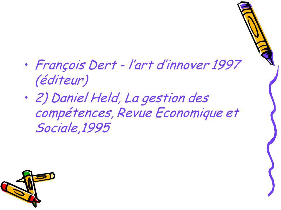 François Dert - l'art d'innover 1997 (éditeur)