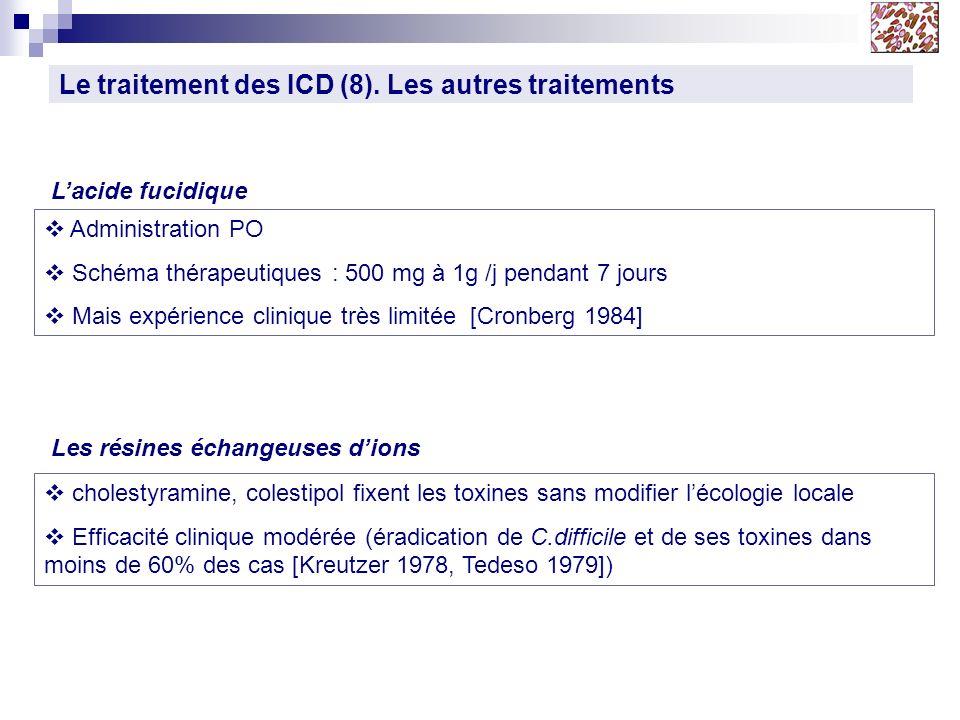 Le traitement des ICD (8). Les autres traitements