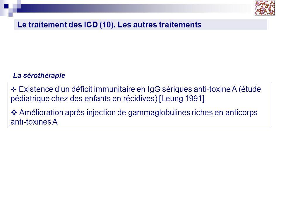 Le traitement des ICD (10). Les autres traitements