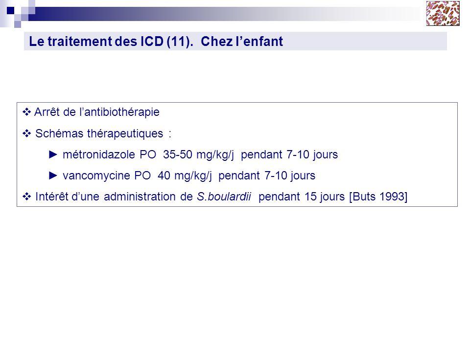 Le traitement des ICD (11). Chez l'enfant