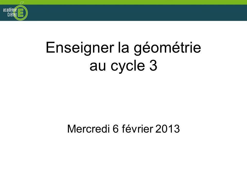 Enseigner la géométrie au cycle 3