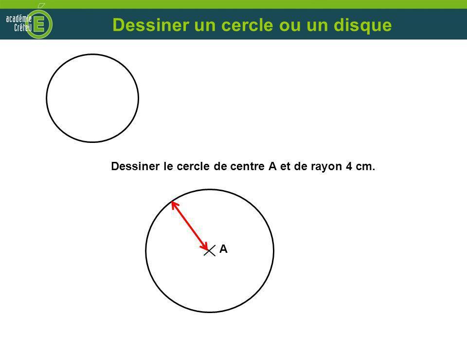 Dessiner un cercle ou un disque