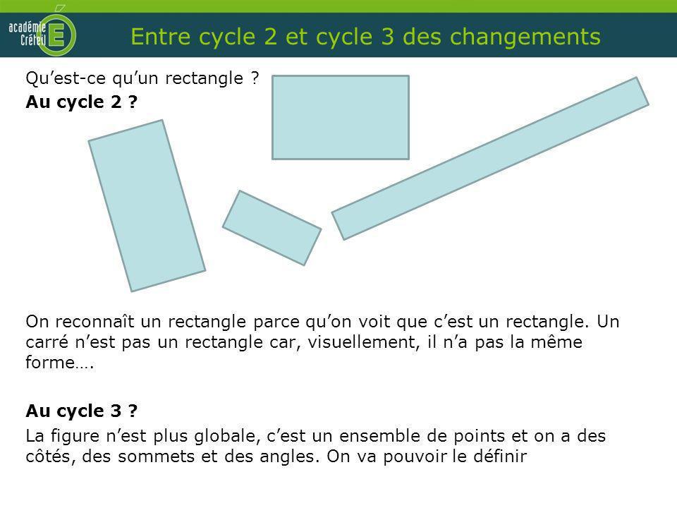 Entre cycle 2 et cycle 3 des changements