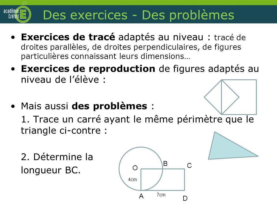 Des exercices - Des problèmes