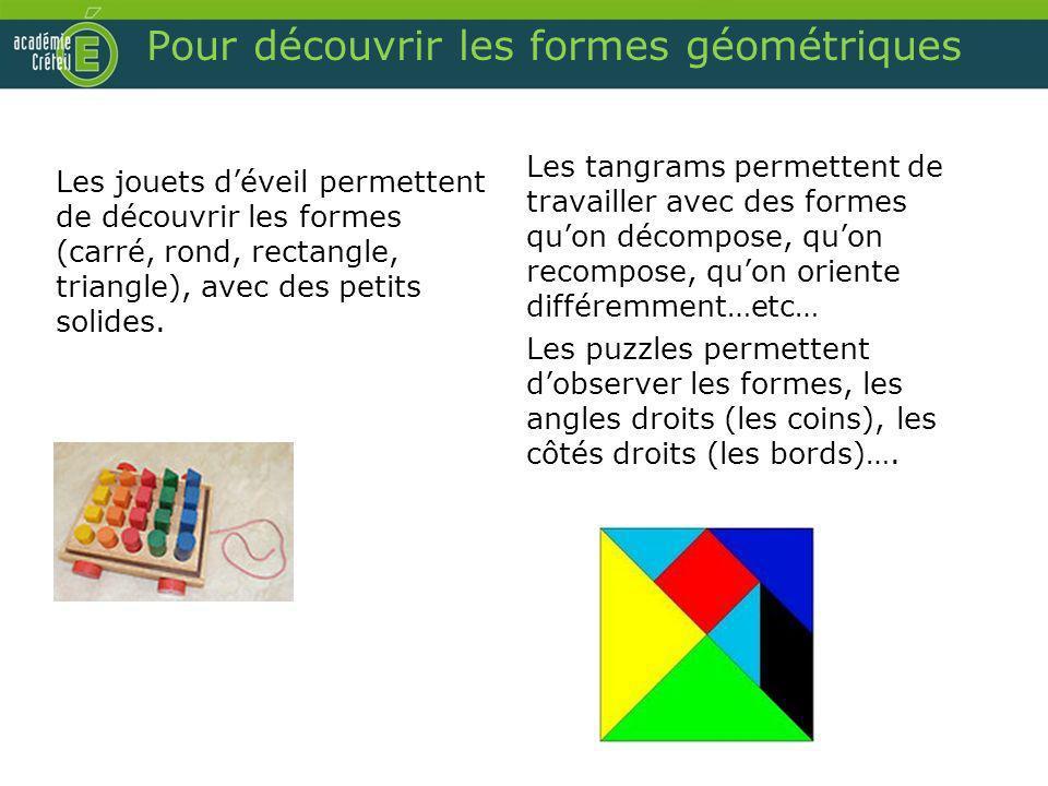 Pour découvrir les formes géométriques