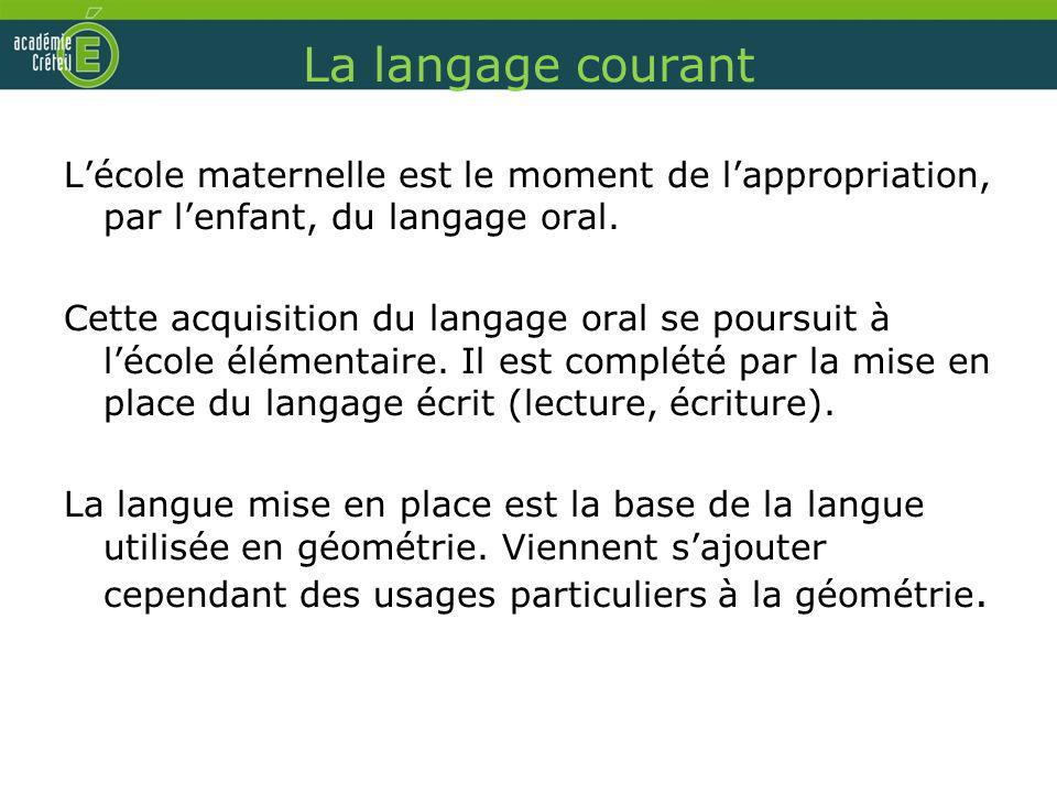 La langage courant